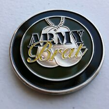 """U.S. ARMY PATRIOTIC- """"ARMY BRAT COIN"""" - GREAT GIFT- AMERICAN- COIN"""