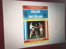 1971 England v Switzerland. Good Condition