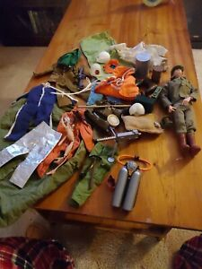 Vintage 12 Inch GI Joe Action Man  Fuzzy Head Figure with accessories