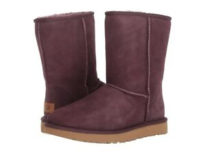 Women's Shoes UGG CLASSIC SHORT II Mid-Calf Slip On Boots 1016223 PORT SIZE 5
