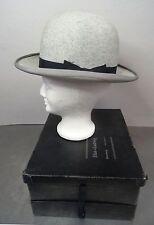 Antike Melone in Hutschachtel 56,8cm Umpfang Hut Koffer Bowler Hat  ~1900-30