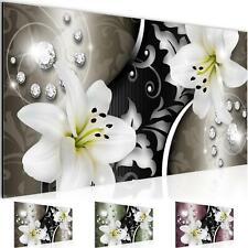 WANDBILDER XXL BILDER Blumen Lilien VLIES LEINWAND BILD Wohnzimmer