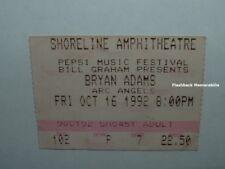 Bryan Adams / Arc Angels 1992 Concert Ticket Stub Shoreline Amphitheatre Rare