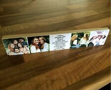 "11x2.5"" Personalised Wooden Photo & Text Block Best Friend friendship Gift #"