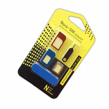 New 5 IN 1 Set Universal Nano SIM Card to Micro Standard Adapter Metal Converter