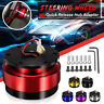 Universal Car Auto Quick Release Steering Wheel Snap Off Hub Adapter/Boss Kit