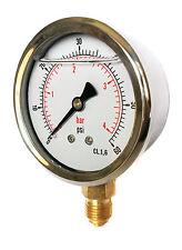 Hydraulic Pressure Gauge Glycerine Filled 0/60 PSI & 0/4 Bar 63mm Dial 1/4 BSP
