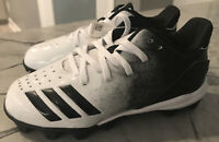 NEW Adidas Unisex Icon 4 Md K Baseball Cleats Youth Size 13 K White/Black G26698