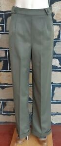 Pants, Khaki, Wide Leg,1940's inspired, by 'Banned Apparel', poly/viscose, si...