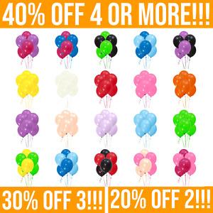 "10"" Latex Balloons - 30, 50, 100, 200 or 300 packs. Helium Baloon Party Ballon"