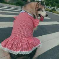 Spring Summer Dog Dress Puppy Pet Clothes for Medium Large Dogs Costume Labrador