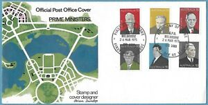 Australian 1975 Prime Ministers FDC Stamp D356