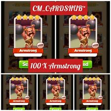 100 X Armstrong Coin Master Cards [Superfast Delivery]