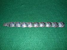 Vintage Sterling Silver/Black Enamel Siam Nielloware Bracelet Mekkala/Ramasoon