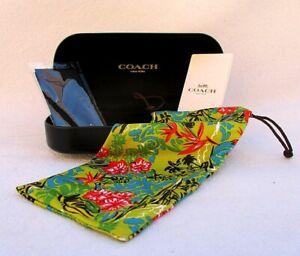 COACH NEW YORK BLACK HARD CLAM SHELL SUNGLASS CASE W/ DUST CLOTH AND DUST BAG