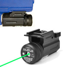 Green Hanging Dot Laser Sight Collimator QD 20mm Rail Mount For Rifle Glock 17