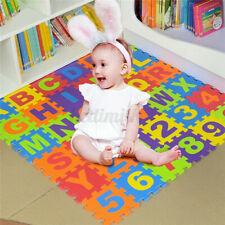 Soft Interlocking Pastel Colors Foam Cube Alphabet Number Toddler Learning