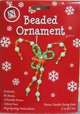Beaded Candy Cane Christmas Ornament Craft Kit: Make Your Own Holiday Decoration