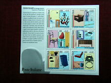 2000 ITALY large sheet 6 stamps MNH  Italian Design