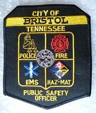 Patch- City Bristol Tennessee Public Safety Officer Police Patch (NEW*)