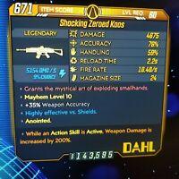 (PS4) Borderlands 3 [Level 60/Mayhem 10] Kaos (Shock) (200%DMG-ASA)