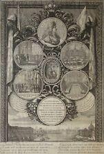 Eau-forte de ERTINGER et LECLERC, XVIIe, Louis XIV, roi, Hôtel de Ville, Paris