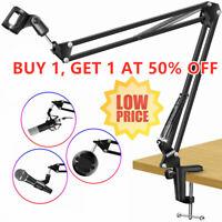 Studio Desk Mic Stand Mount Suspension Boom Microphone Holder Scissor Arm