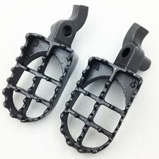 For Foot Pegs For 2000 2001 CR250R CR125R GRAY Motocross MX Dirt Bike Racing