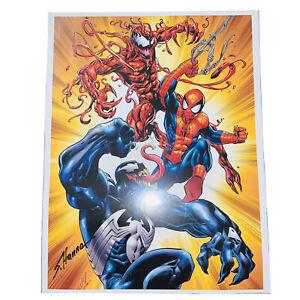 NYCC Scott Hanna Signed Spider-Man Venom Carnage Print Marvel