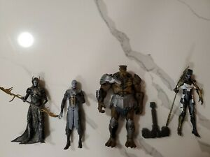 Marvel Legends Black Order 4 Figure Lot Cull Obsidian BAF, Proxima, Maw, Corvus