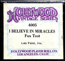 HOLLYWOOD Vintage Series I BELIEVE IN MIRACLES 4005 Player Piano Roll