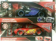 Disney Cars 3 Lightning Mcqueen & Jackson Storm Jada 1:24 Tire Rack EXCL NEW MIB