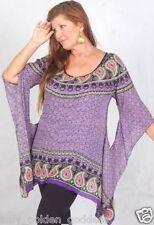 purple poncho top batik art casual only one left os m l xl 1x 2x zc876