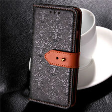 For Samsung Galaxy  Luxury Genuine Leather Buckle Flip Case Wallet Cover Stand