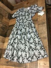 Lularoe women's dress size XS black and grey floral soft material NWT