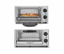 Toaster Oven Stainless Steel Metal KitchenSmith Toast Bake Broil Bagel 1000 Watt