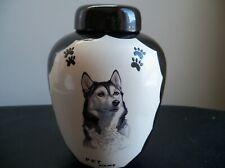 Husky/ Alaskan Malamute Memorial Urn, Ceramic, unused