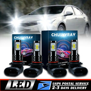 FOR 2003-2008 TOYOTA COROLLA -  LED HEADLIGHT LAMP BULBS COMBO 4X 200W 6000K US