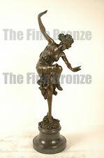 Signed Cl.J.R.Colinet bronze sculpture art deco Roman Dancer statue
