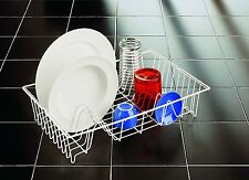 METALTEX GERMATEX GLASS PLATES CUP DISH DRAINER RACK WHITE