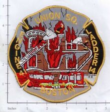 Massachusetts - Boston Engine 41 Ladder 14 MA Fire Dept Patch - Union Square