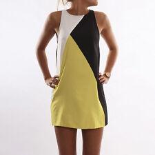 Womens Short Mini Dress Summer Beach Holiday Tunic Sleeveless Tank Vest Sundress