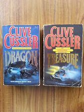 2 books by CLIVE CUSSLER  DRAGON and TREASURE .