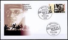 Klappkarte 17.2.00 Kurt Weill U.a minr.2100 Komponist Dreigroschenoper