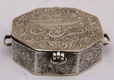 "MAGNIFICENT 1800'S PERSIAN COIN SILVER QORAN BOX  ""MUST SEE """