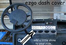 Ezgo Txt & Marathon Golf Cart Highly Polished Aluminum Diamond Plate Dash Cover