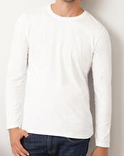 T-shirt uni homme manches longues FRUIT OF THE LOOM  COULEUR BLANC