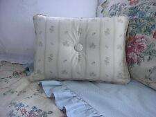 New Custom Ralph Lauren Villandry Floral Stripe Accent Pillow 1 Button