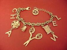 Chanel Vintage CC Logos Multi Charms W/ Chain Bracelet limited edition