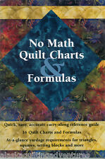Instructional Book ~ NO MATH QUILT CHARTS & FORMULAS ~ Carry Along Booklet